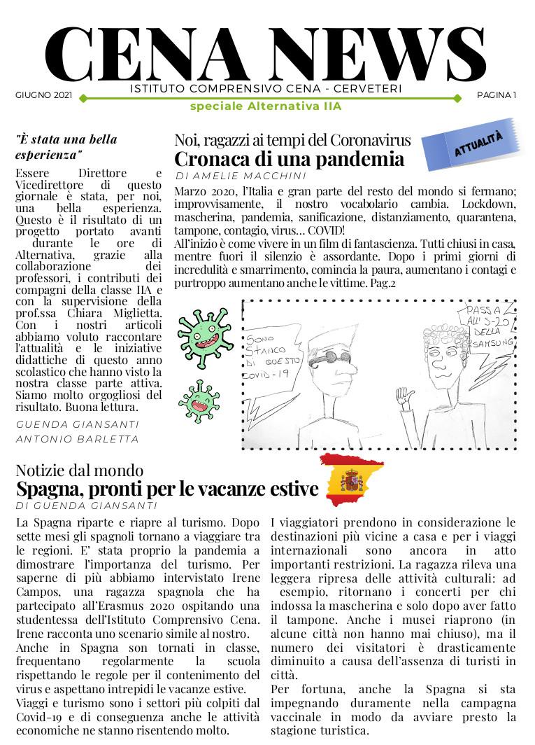 CLICCA PER LEGGERE IL CENA NEWS